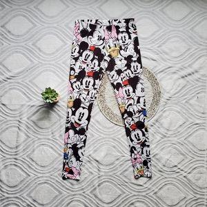 Disney Parks Mickey Minnie Mouse Stretch Legging L